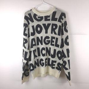 Joyrich Spellout Knit Creme Sweater Size Medium